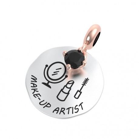 Charm Donna Rerum Passioni Make-up Artist In Argento Argento Con Onice