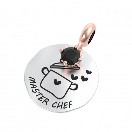Charm Donna Rerum Passioni Master Chef In Argento Argento Con Onice