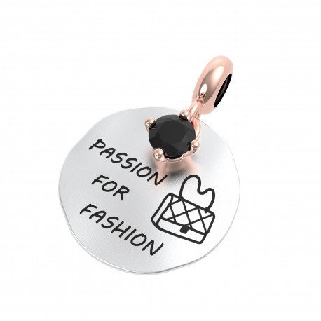 Charm Donna Rerum Passioni Passion For Fashion In Argento Argento Con Onice