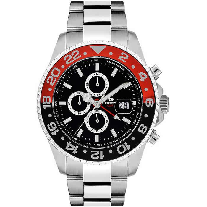 Orologio Lorenz Crono Diver GMT Nero-Blu 030182BB